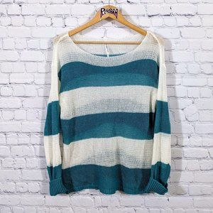 💎 Roommates Striped Lightweight Sweater XL